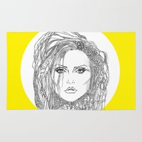 blondie Area & Throw Rugs featuring Deborah (Debbie) Harry of Blondie by Francesco Carli