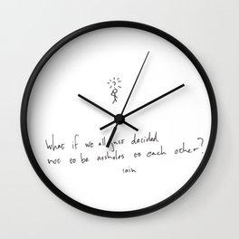Don't Be An Asshole Wall Clock
