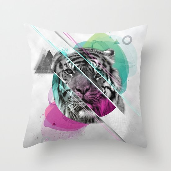 Le tigre Throw Pillow