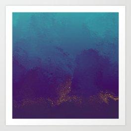 Purple And Teal Texture Art Print