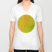 lime V-neck T-shirts featuring Lemon/Lime by Benito Sarnelli