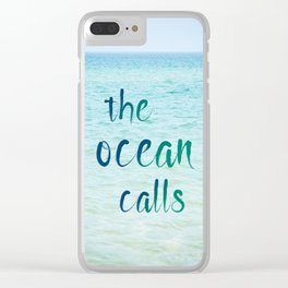the ocean calls Clear iPhone Case