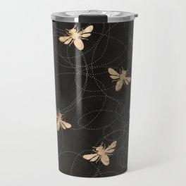 Busy Bees (Black) Travel Mug