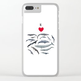 I love whales design Clear iPhone Case