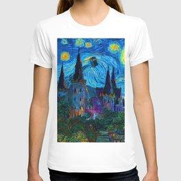 Tardis in Starry night T-shirt