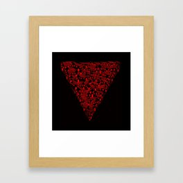 Huesca in red and black Framed Art Print