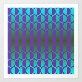 1974, violet and green Art Print