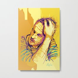Digital Drawing #28 - Heath Ledger Metal Print