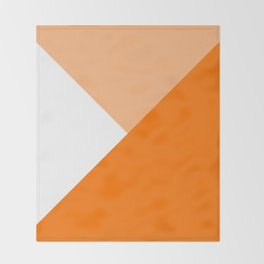 Orange Angles Throw Blanket