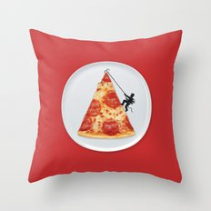 Pizza Topping Throw Pillow