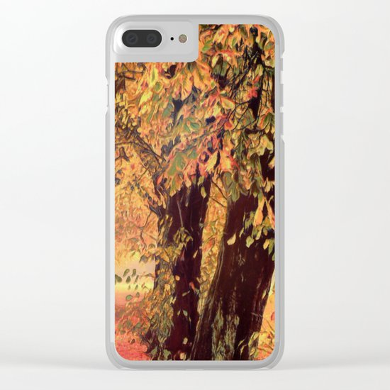 Autumn - the leaves are falling Clear iPhone Case