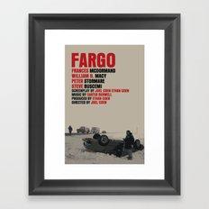 Fargo Movie Poster  Framed Art Print