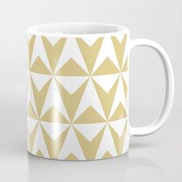 Mid Century Modern Triangle Pattern 531 Gold Kaffeebecher