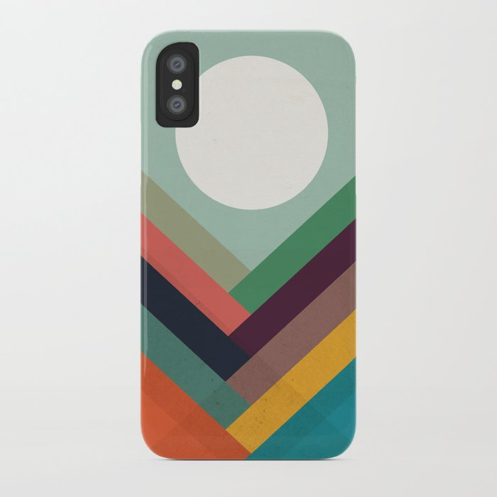 Rows of valleys iPhone Case