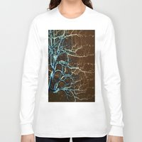 batik Long Sleeve T-shirts featuring Batik Tree by Deb MacNeil