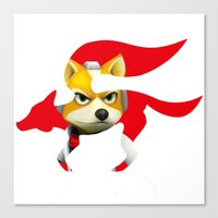 starfox Canvas Prints featuring Starfox by ElmWood Grove