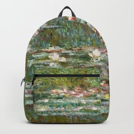 "Claude Monet ""Bridge over a Pond of Water Lilies"" Backpack"