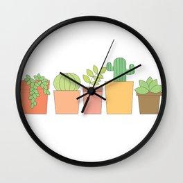 Happy Plants Wall Clock