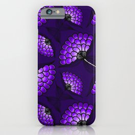 African Art Cloth in Purple iPhone Case