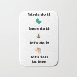 birds do it Bath Mat