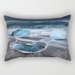 Ice on the Coast of Iceland Rectangular Pillow