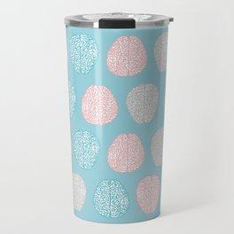 Pastel Brains Pattern Travel Mug