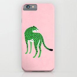The Stare 2: Tropical Green Cheetah Edition iPhone Case