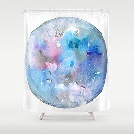 Blue Galaxy - NO.1 Shower Curtain