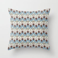 Retro Geometry Diamond Throw Pillow