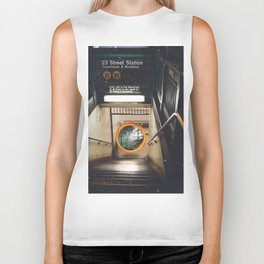 New York City Subway Portal to the Forest Biker Tank