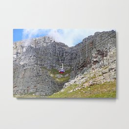 At Table Mountain, Cape Town South Africa Metal Print