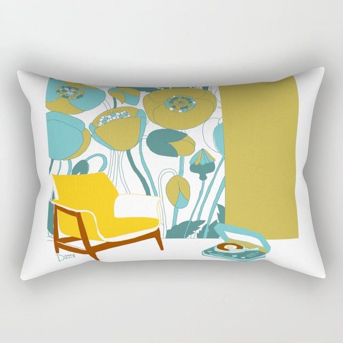 The yellow chair Rectangular Pillow