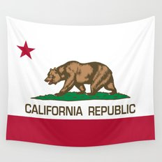California Republic Flag, High Quality Image Wall Tapestry