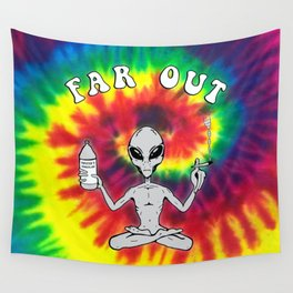 Far Out Alien (Tie Dye) Wall Tapestry