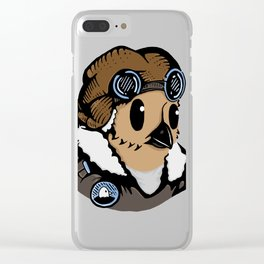 Sergeant Fluff n Feathers Clear iPhone Case