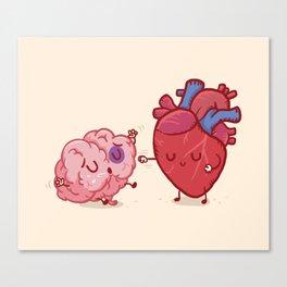 Reason vs Love Canvas Print