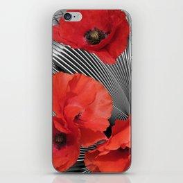 fractal poppies iPhone Skin