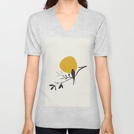 Bird and the Setting Sun Unisex V-Neck