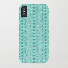 Lacey Lace - White Teal Slim Case iPhone X
