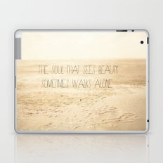 The_soul_that_sees_beauty_may_sometimes_walk_alone Laptop & iPad Skin
