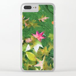 Autumn Background Clear iPhone Case