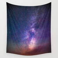 milky way Wall Tapestries featuring Milky Way by Lotus Effects