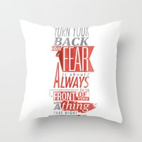 fear Throw Pillows featuring Fear by Rhys Jenkins