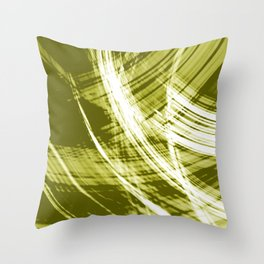 Reflective fibers of metallic yellow stripes with bright glow elements.  Throw Pillow
