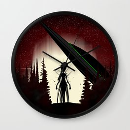 Aliens in the Forest Wall Clock