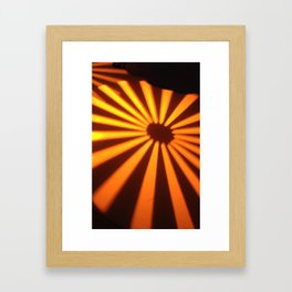 Orange Lines at the ground Framed Art Print
