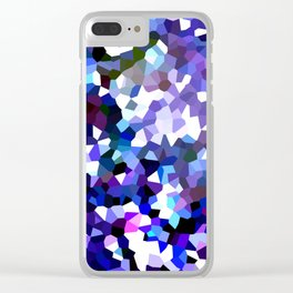 Ultraviolet Mountains Moon Love Clear iPhone Case