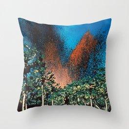 Lava Fountains Kapoho, Hawaii Throw Pillow