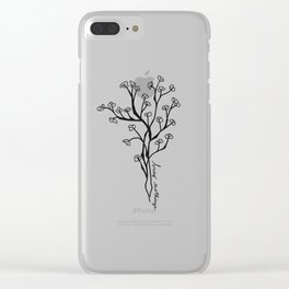 Busy Nothings Clear iPhone Case