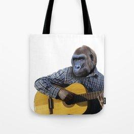 Gorilla Playing Guitar Tote Bag